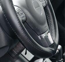 Black PVC Leather Steering Wheel Stitch Wrap Cover Needle & Thread DIY Audi BMW