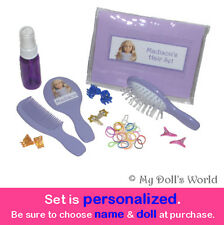 PERSONALIZED HAIR CARE SET! FITS AMERICAN GIRL DOLL! SUPPLIES~KIT~BRUSH~KANANI
