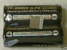 2 pc TRUSTFIRE 4000mAh 26650 3.7v  PCB Li-ion BUTTON TOP FLASHLIGHT BATTERY