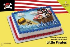 LITTLE PIRATES CAKE Decoration Topper Party Birthday Supplies Kit Set NW Cupcake