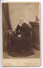 (Q58) Victorian Real Photo CDV, Seated Lady in Crinoline, M.Boak, Driffield