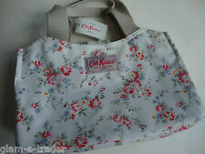 Cath Kidston Coated Canvas MINI TOTE BAG imbianchiti Fiore Bianco Bnwt