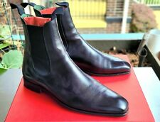 SLEEK Carmina Chelsea Boots 9UK/10US Black Calf Buger Last $545