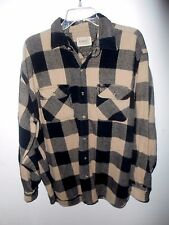 C.E.SCHMIDT BROKEN IN BLACK PLAID FLANNEL SHIRT ~XL~