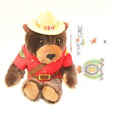 "Stuffed Animal House 8"" RCMP Sergeant Brown Beaver Canadian Wildlife Plush NWT"