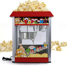 Stainless Steel 220V Small Commercial Popcorn Machine Automatic Popcorn Maker