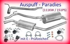 Abgasanlage inkl. Rep. Rohr Auspuff VW T4 2.5 TDi Bus & Kasten  (111KW) + Kit