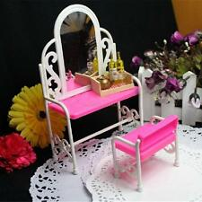 Dressing Table & Chair Accessories Set For Barbies Dolls Bedroom Furniture 5H