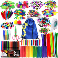 Arts and Crafts Supplies for Kids Girls - Toddler DIY Craft Art Supply Set with