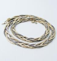 Vintage Braided Bi-Color Chain Necklace … Signed PREMIER DESIGNS