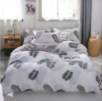 3D Black And White Leaves KEP7061 Bed Pillowcases Quilt Duvet Cover Kay