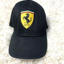 Genuine Scuderia Ferrari Black Baseball Cap. Adult One Size