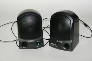 Sony SRS-A20 Active Portable Computer Stereo Speaker System Built-In Amp *1994*