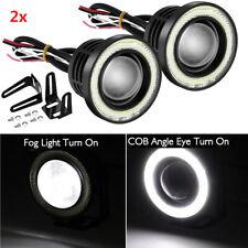 25 Car Led Fog Light Projector Driving Lamp Cob Angel Eye Halo Ring Drl White