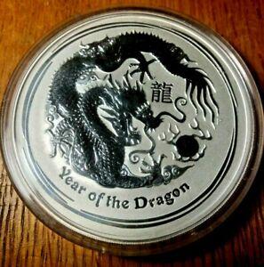 2012 10 oz silver Australia Dragon Lunar ounce Perth Mint Capsule China Zodiac