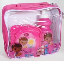 Disney Doc McStuffins Girls School Insulated Lunch Box Sandwich Bag Set + Bottle