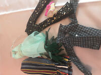 VTG Barbie Clothes Dress Up Jacket Pants Skirt Headband Outfit Accessories Lot