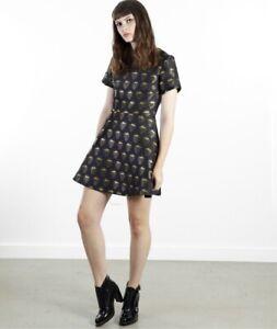 MARKUS LUPFER Designer Gold Strawberry Ivy Dress s.S NEW Tags