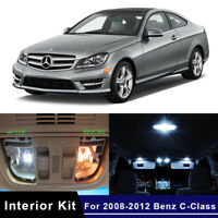 15x LED Car Lights Interior Package Kit For 2008-2012 Mercedes Benz C-Class W204