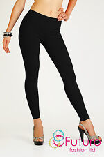 Full Length Warm Thick Cotton Leggings Winter Style All Sizes 8 - 22 P25 Black Size 14 UK (xl)