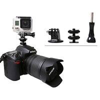 Hot Shoe Adapter Mount for Mounting GoPro Hero to DSLR Canon Nikon Pentax Camera