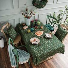 Merry Christmas Tree Tablecloth Cotton Linen Table Cloth Cover Xmas Table Runner