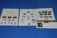 Lesotho album page singles, strips, s/s sheet collection as shown nice