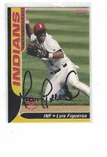 2004 Indianapolis Indians Luis Figueroa Milwaukee Brewers Autograph COA