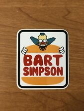 Bart Simpsons Krusty Burger Sticker, Skateboard