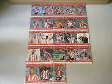 SUNDERLAND AFC MATCHDAY PROGRAMMES 2012-2013 X 23 PLUS OFFICIAL TEAM SHEETS X 22