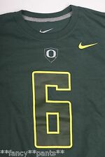NWT Mens NIKE OREGON DUCKS Green #6 Nelson Football Jersey style t-shirt LARGE