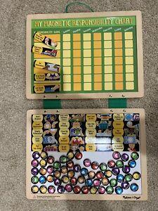 Melissa and Doug Responsibility Reward Chore Chart Magnets(ALL PCS). It Works!