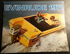 VINTAGE 1971 EVINRUDE OUTBOARD MOTOR & SNOWMOBILE SALES BROCHURE 24 PAGES (332)