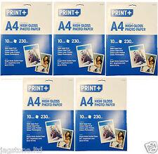 40 FOGLI a4 Carta fotografica lucida, a getto d'inchiostro stampante laser, photocopiers 230gsm
