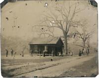 Billy The Kid Famous Historical Farmhouse Croquette  scene tintype C710RP