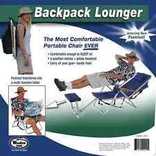 Wearever Backpack Folding Beach Camp Pool Deck Lounger Chair