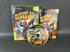 Destroy All Humans (Microsoft Xbox, 2005) Tested and Works, Complete.