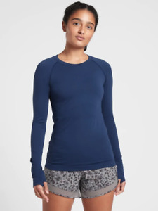 ATHLETA  Momentum Top Enchanted Blue  NEW M Medium  #530524 Workout Casual