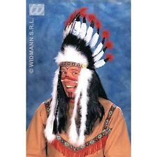 Indian Headdress Sitting Bull Native Headpiece Fancy Dress Costume Accessory