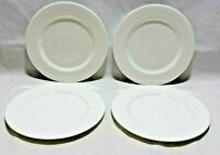 "Roscher Bone China 8"" Salad Plates White Hobnail Set of Four New"