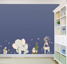 Wall Decals Cartoon Forest Animal Sticker Kids Room Vinyl Wallpaper