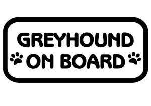 Greyhound On Board Car, Van sticker, decal paw print