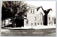 Ludington Michigan~Washington Avenue Baptist Church~Mini US Mail Box~1940s RPPC