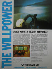 5/1988 PUB THOMSON-CSF JANUS MARS SIMULATOR VISUAL COMBAT PROJECTION SYSTEM AD