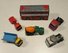 New listing Vintage Matchbox 6 Diecast Mixed Toy Trucks in used condition dated 1972 - 1987