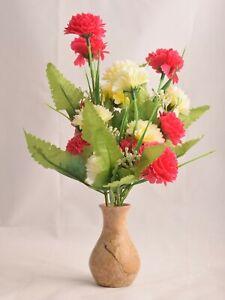 """3.5"""" Stone Flower Vase Stone Vase Handmade Table Decor Polished Made in India"""