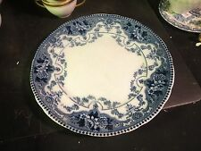 "Ford & Sons Argyle Flow Blue 10-3/4"" Dinner Plate"
