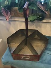 Vintage Antique Metal Tin Organizer Desk Office File Cabinet Rare