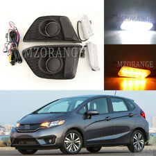 LED DRL For Honda Fit Jazz 2014 2015 2016 Daytime Running Light Signal Fog Lamp