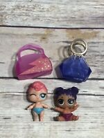 LOL Surprise Doll GLITTER SERIES LIL PURPLE QUEEN & LIL STARDUST SIS Sister Set